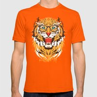 Tigeek Mens Fitted Tee Orange SMALL