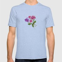 Floral No. 1 Mens Fitted Tee Athletic Blue SMALL