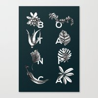 Botanica Letters | Forest Green Canvas Print