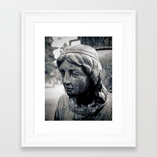 Face of Stone Framed Art Print