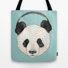Polkadot Panda Tote Bag