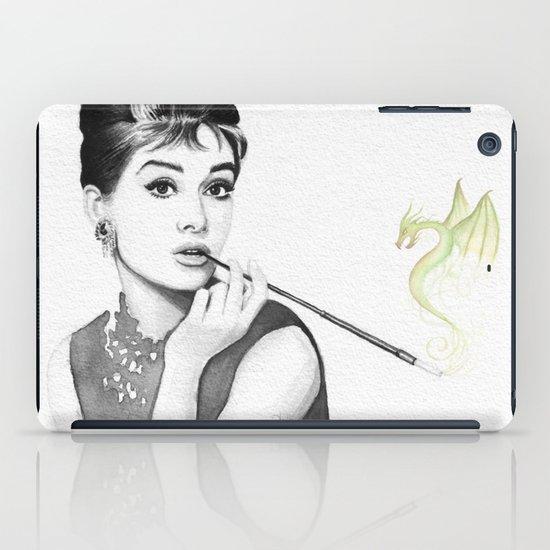 Audrey Hepburn and Her Dragon iPad Case