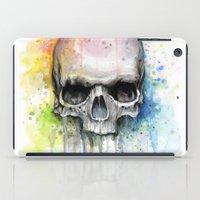 Skull Watercolor Painting iPad Case