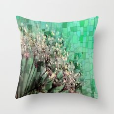 Fresh Dandelions Mosaic Throw Pillow