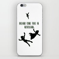 Dreams Come True In Neverland. iPhone & iPod Skin