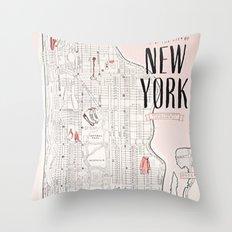 Kate Spade - New York Map Throw Pillow