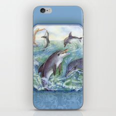 Dolphins iPhone & iPod Skin