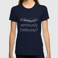 Clarinet - Seriously, Debussy? (black) Womens Fitted Tee Navy SMALL