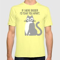 Purrfectly Honest Mens Fitted Tee Lemon SMALL