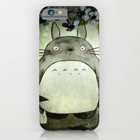 iPhone & iPod Case featuring Totoro in the rain by munieca
