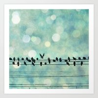 Snow Birds Art Print