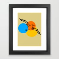 sunset aviary Framed Art Print