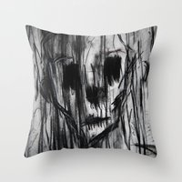 Ghost In the Rain Throw Pillow