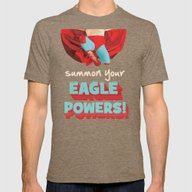 Summon Your Eagle Powers Mens Fitted Tee Tri-Coffee SMALL