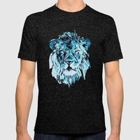 Lion Mens Fitted Tee Tri-Black SMALL