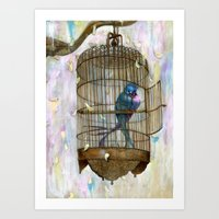Birds In Love! Art Print