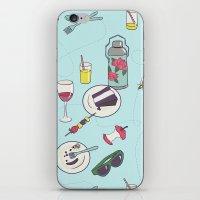 messy picnic iPhone & iPod Skin