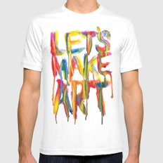 LET'S MAKE ART Mens Fitted Tee SMALL White