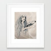 Parrot Girl 2 Framed Art Print
