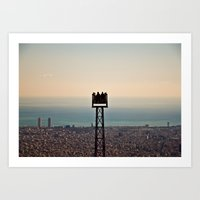 Contemplating Barcelona Art Print