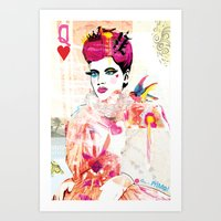Art Print featuring La Queen De Dimanche / The Queen of Sunday by Olive Primo Design + Illustration