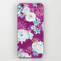 Plum Flourish Floral iPhone & iPod Skin