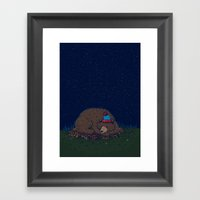 Starry Night Novembear Framed Art Print