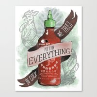 An Ode To Sriracha Canvas Print