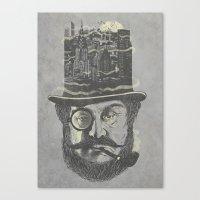 Old man hatten Canvas Print