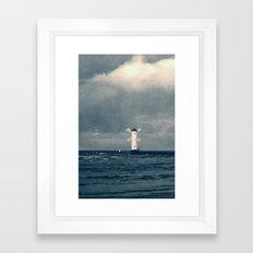 the white windmill Framed Art Print