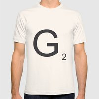 Scrabble G Mens Fitted Tee Natural SMALL