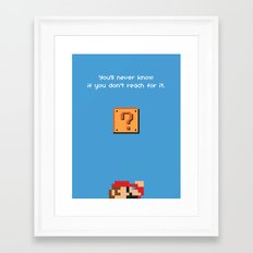 Mario Framed Art Print
