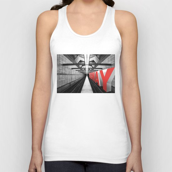 LA subway Unisex Tank Top