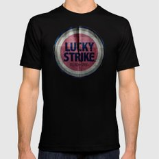 Vintage Lucky Strike Carton Black Mens Fitted Tee SMALL