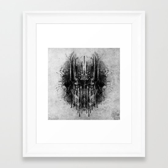 dark thoughts - sauron Framed Art Print