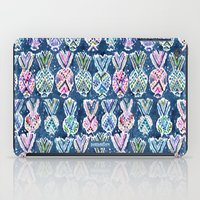 NAVY TRIBAL PINEAPPLES iPad Case