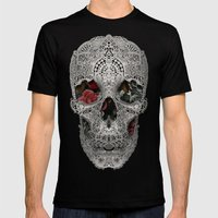Lace Skull 2 Mens Fitted Tee Black SMALL