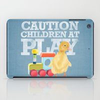 A Duckling With A Wood C… iPad Case