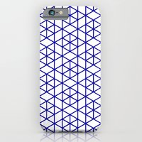 iPhone & iPod Case featuring Karthuizer Blue & White Pattern by Stoflab