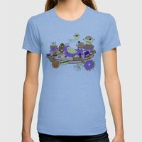 Breakfast of Champions Womens Fitted Tee Athletic Blue SMALL
