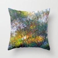 Ode to Monet Throw Pillow