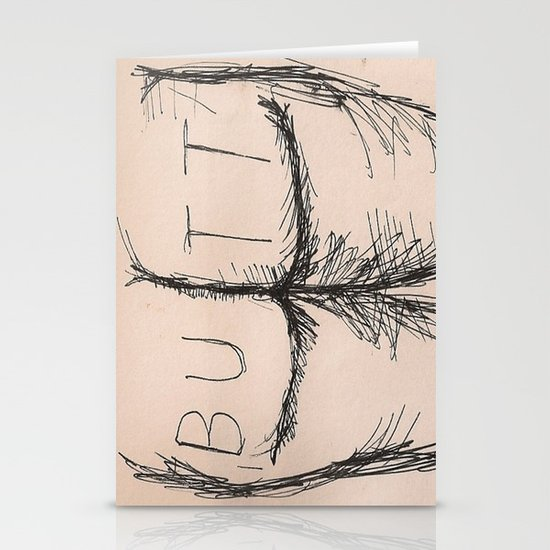 B U T T Stationery Card