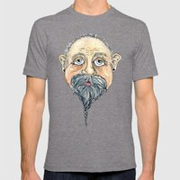 Old Man 2 Mens Fitted Tee Tri-Grey SMALL