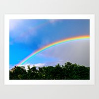 Rainbow's End Art Print