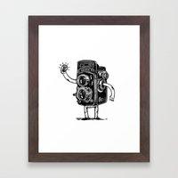 Self-Selfie Framed Art Print