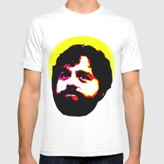 Zach Galifianakis Died for our Sins White Mens Fitted Tee SMALL
