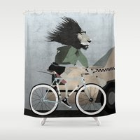Alleycat Races Shower Curtain