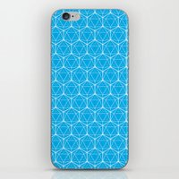 Icosahedron Pattern Bright Blue iPhone & iPod Skin