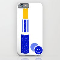 iPhone Cases featuring no time for negative shit by Alba Blázquez