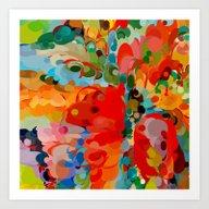 Color Bubble Storm Art Print
